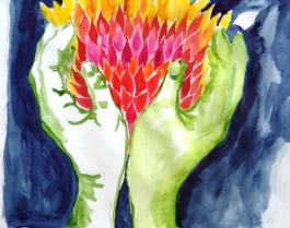 Visual Journaling June 2010_0233 Heart fire